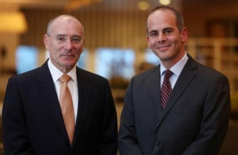 Tony Angel and Jeremy Lustman. (photo credit: Marc Israel Sellem/The Jerusalem Post)