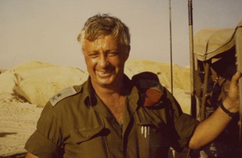 Ariel Sharon a week after the Yom Kippur War cease-fire. (photo credit: Emanuel A. Winston)