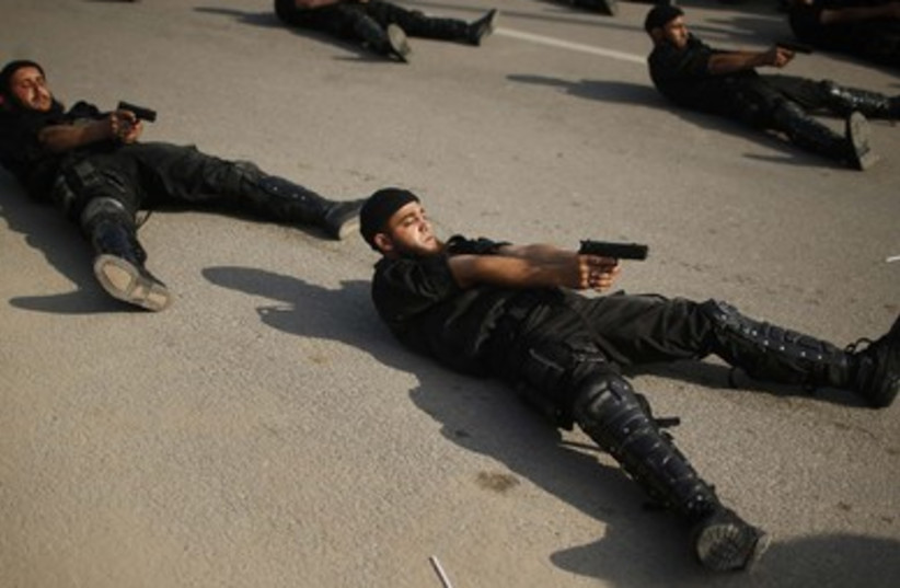 Hamas marks 5th anniversary of Operation Cast Lead in Gaza. (photo credit: Reuters)