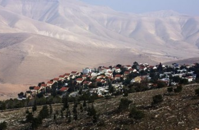 West Bank settlement of Maale Efrayim in the Jordan Valley. (photo credit: REUTERS/ Baz Ratner)