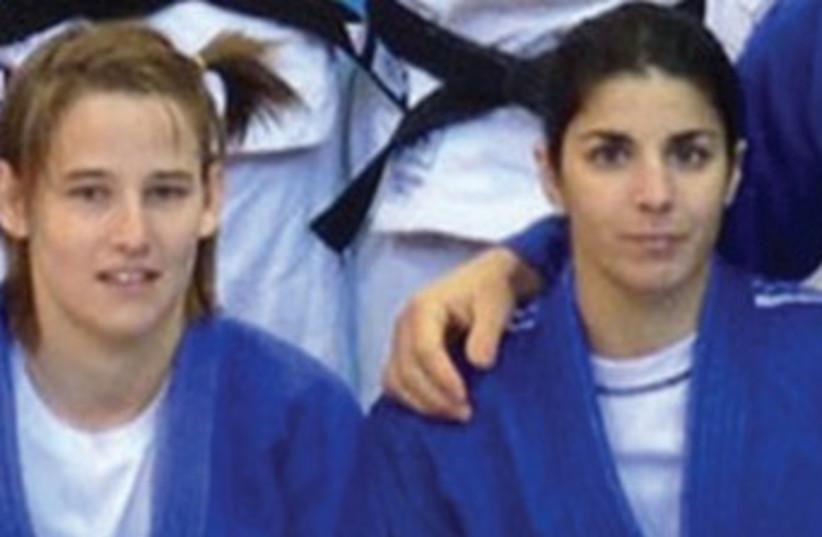 Amelie Rosseneu (left) and Roni Schwartz. (photo credit: Israel Judo Association- Courtesy)