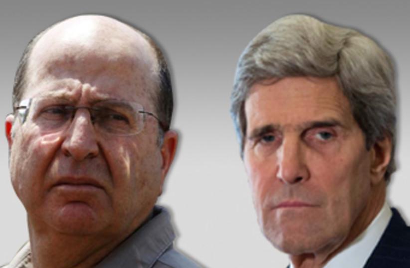 Ya'alon and Kerry (photo credit: Reuters)