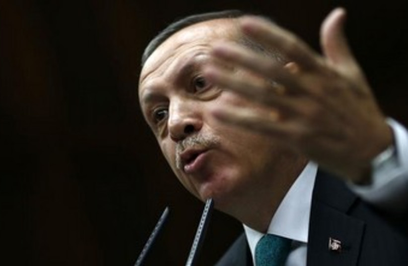 Turkish Prime Minister Recep Tayyip Erdogan  (photo credit: Reuters)