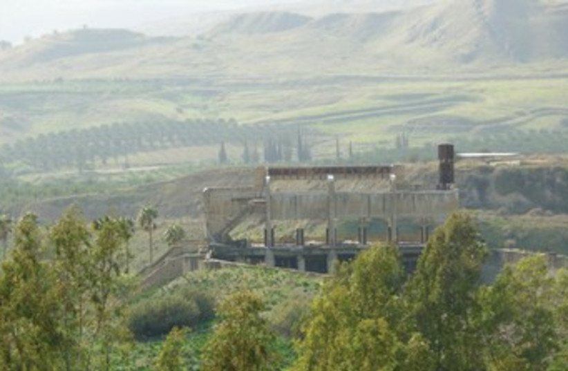 AN OLD hydro-electric power station is seen at the site of the proposed Jordan River Peace Park between Israel and Jordan. (photo credit: COURTESY FOEME)