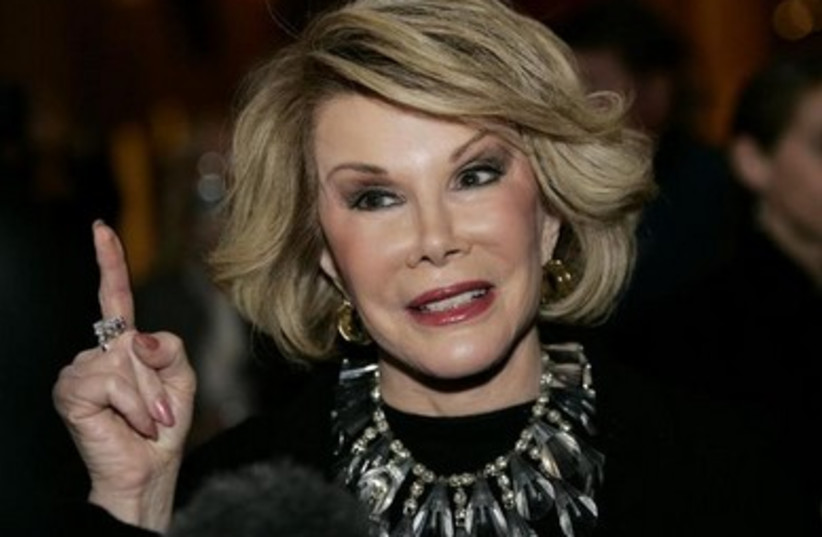 Joan Rivers (photo credit: REUTERS)