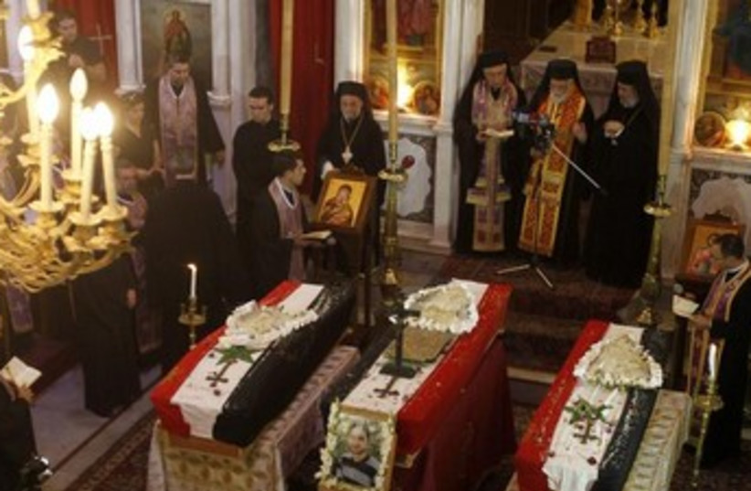 Christians in Syria. (photo credit: REUTERS)