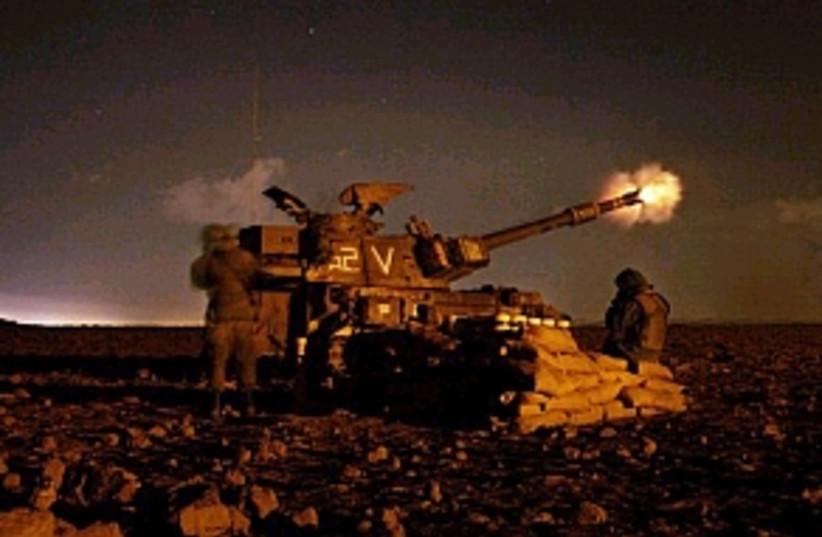 idf artillery 298 ap (photo credit: AP)