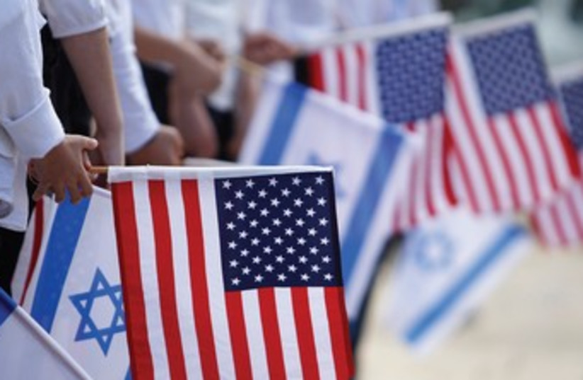 American, Israeli flags. (photo credit: REUTERS)