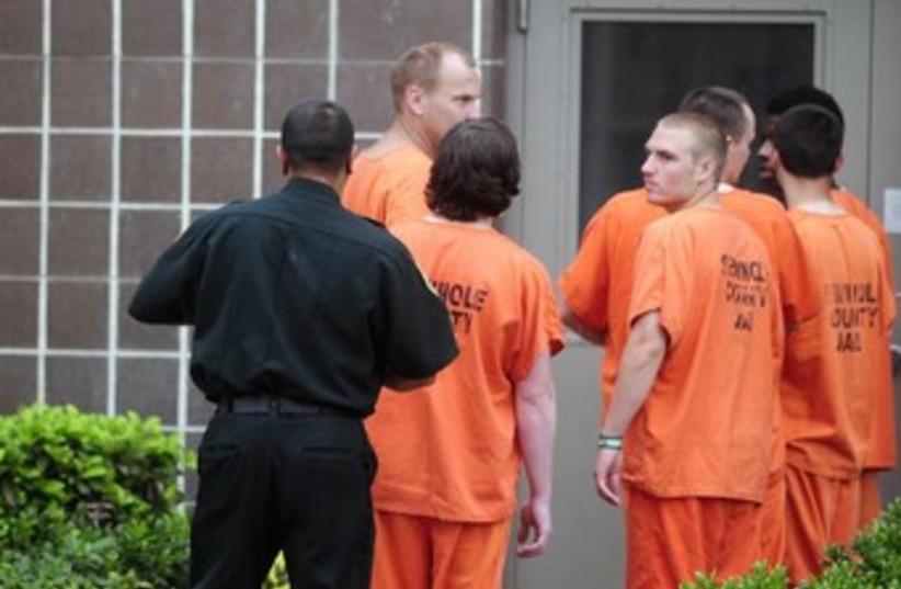 Prison inmates (photo credit: REUTERS)