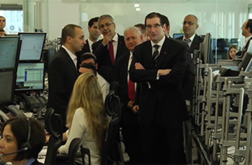 Launch of Bank Hapoalim's new trading floor (photo credit: BANK HAPOALIM'S)