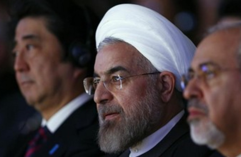 Iranian President Hassan Rouhani at the World Economic Forum (WEF) in Davos. (photo credit: REUTERS)