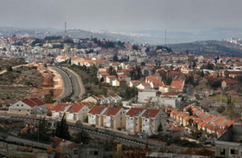 View of settlement. [Illustrative] (photo credit: MARC ISRAEL SELLEM/THE JERUSALEM POST)