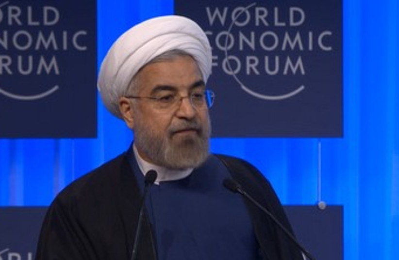 Iranian President Hassan Rouhani (photo credit: SCREENSHOT DAVOS WORLD ECONOMIC FORUM)