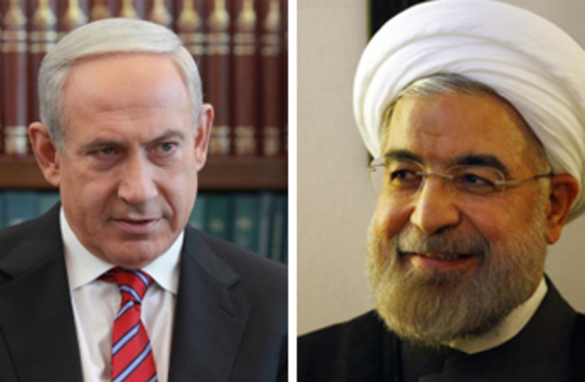 Netanyahu and Rouhani (photo credit: MARC ISRAEL SELLEM/THE JERUSALEM POST,REUTERS)