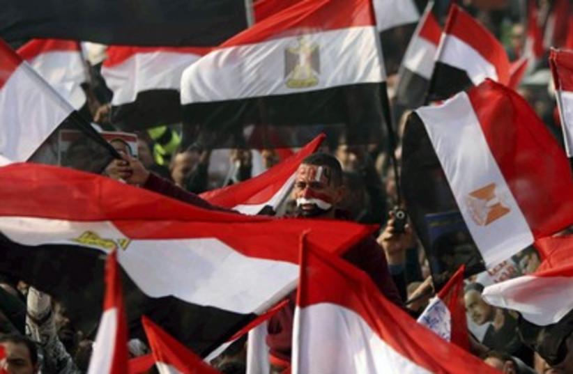 Cairo protests Jan. 25 (photo credit: REUTERS)