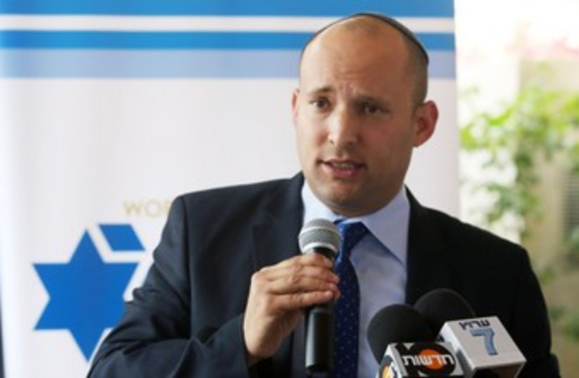 Economy and Trade Minister Naftali Bennett. (photo credit: MARC ISRAEL SELLEM/THE JERUSALEM POST)