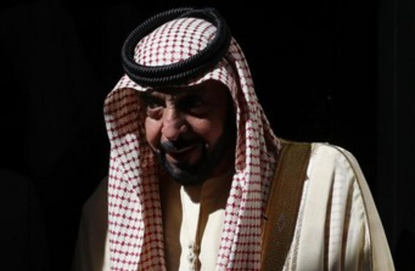 UAE President Khalifa bin Zayed al-Nahayan (photo credit: REUTERS)