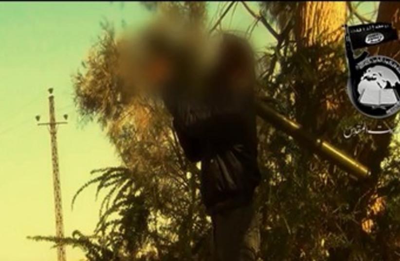 Jihadists in the Sinai Peninsula do battle with Egyptian forces. (photo credit: YOUTUBE SCREENSHOT)