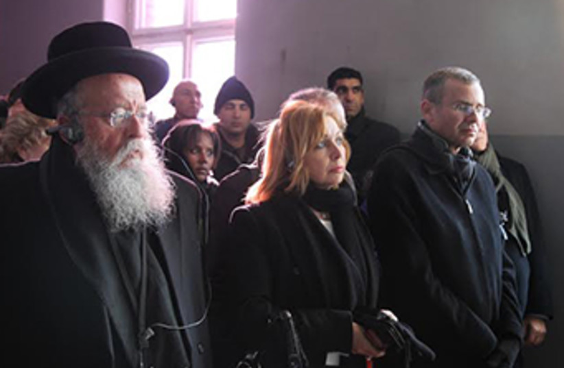 Knesset delegation visits Auschwitz-Birkenau on Int'l Holocaust Remembrance Day (photo credit: COURTESY KNESSET SPEAKER'S OFFICE)