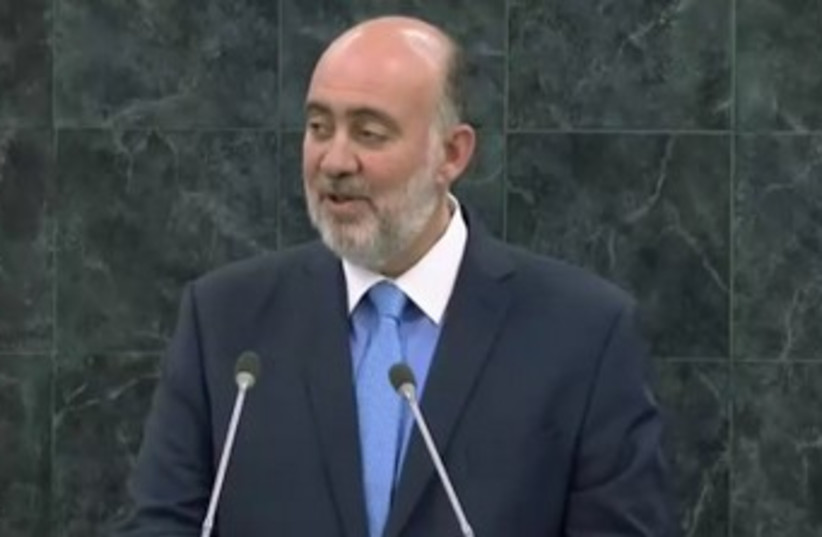 Israeli Ambassador to the UN Ron Prosor speaks at a special General Assembly session marking International Holocaust Day, January 27, 2014. (photo credit: screenshot)
