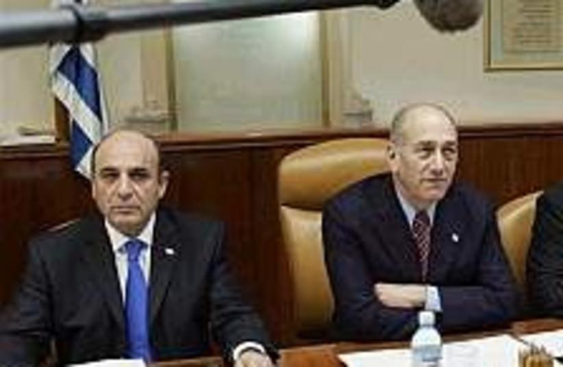 olmert mofaz cabinet 224 (photo credit: AP [file])