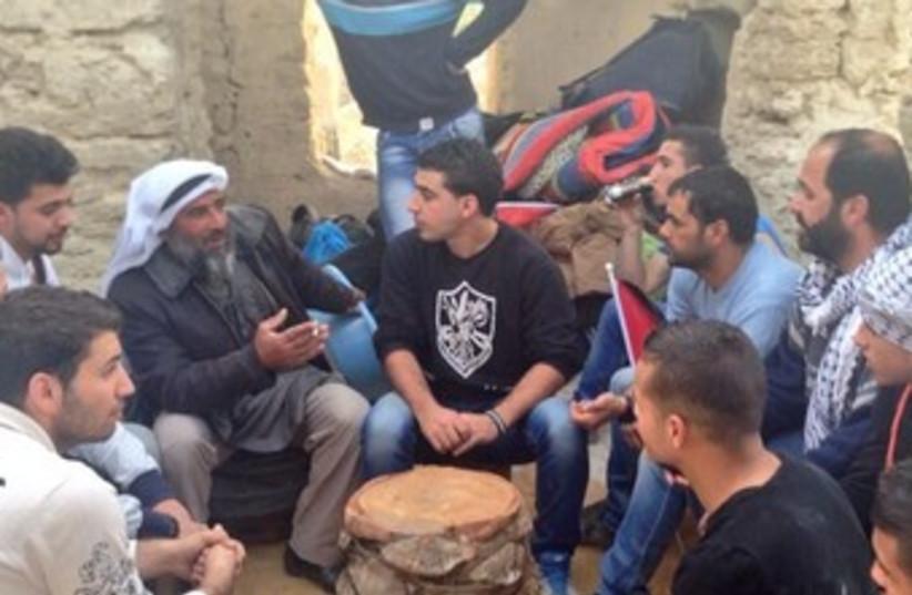 Palestinians at Ein Hijleh, January 31, 2014 (photo credit: IRENE NASSER, COURTESY)
