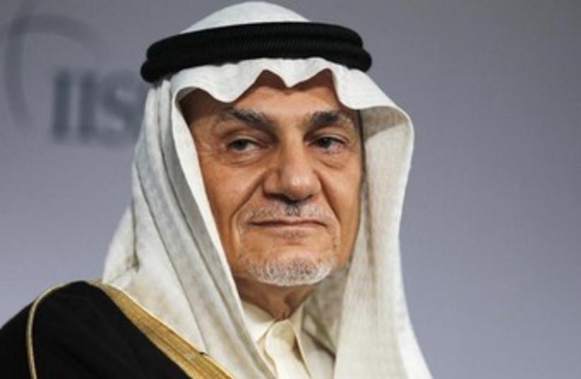 Prince Turki Al Faisal Al Saud is seen here in Bahrain (photo credit: REUTERS)