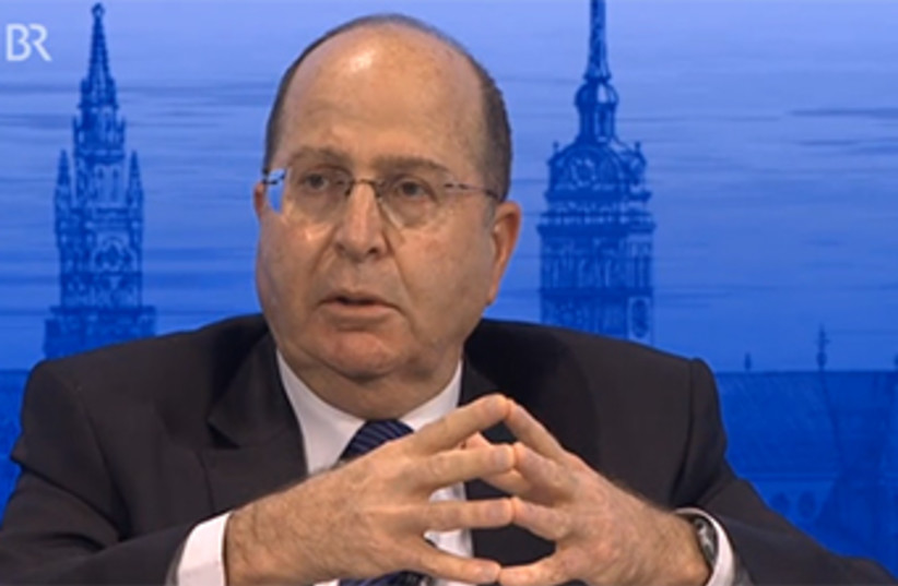 Defense Minister Moshe Ya'alon speaks at Munich Security Conference (photo credit: COURTESY MUNICH SECURITY CONFERENCE)