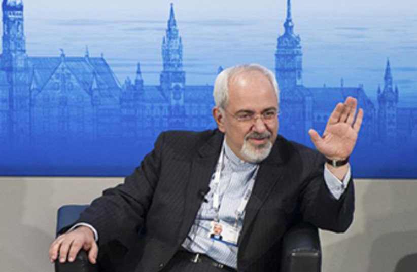 Iranian FM Zarif addresses Munich Security Conference (photo credit: REUTERS)