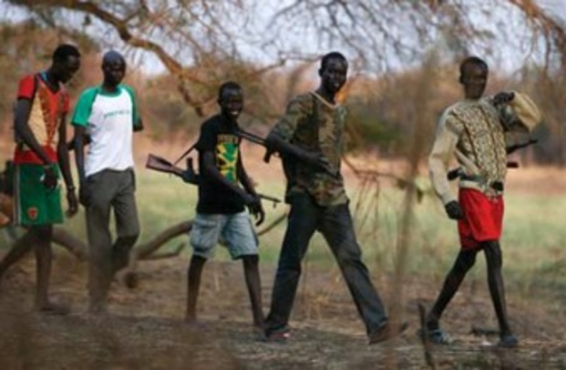 Sudanese fighters (photo credit: REUTERS)