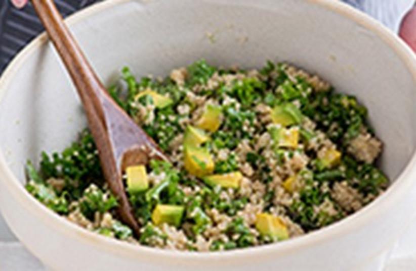 Kale, quinoa and avocado salad (photo credit: GOURMETKOSHERCOOKING.COM)