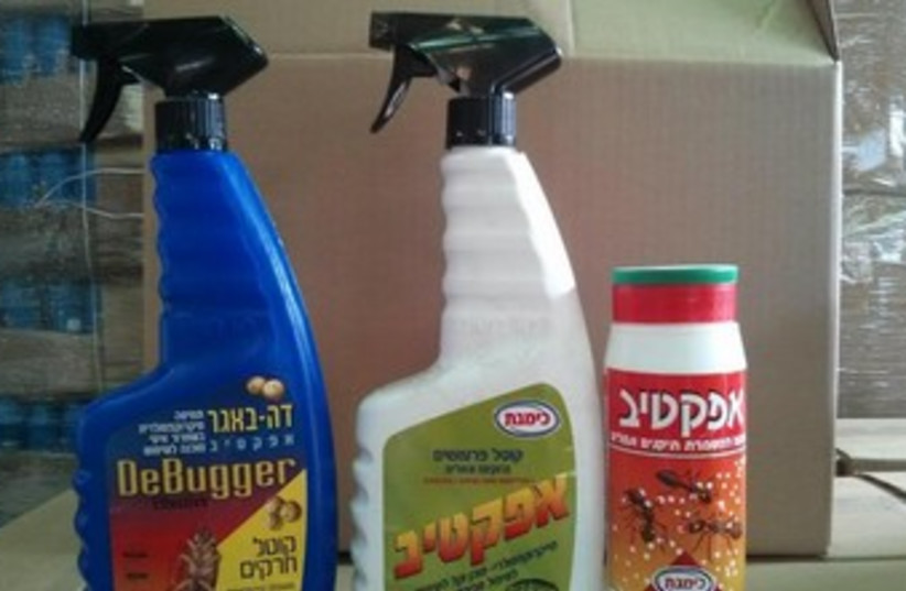 Bug spray (photo credit: COURTESY OF THE ENVIRONMENTAL PROTECTION MINISTRY'S GREEN POLICE)