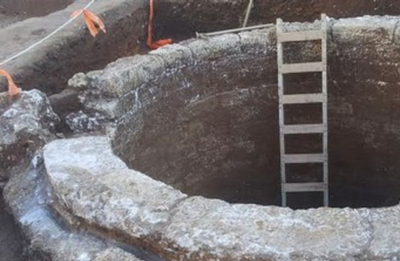 Ancient Well (photo credit: HAMI SHIF, ISRAEL ANTIQUITIES AUTHORITY)
