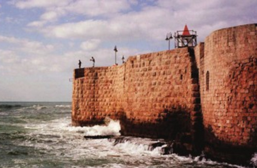 A view of Acre from the sea (photo credit: Courtesy)