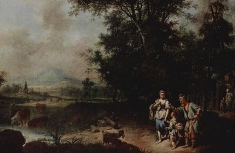 'Repudiation of Hagar' by Johann Conrad Seekatz. (photo credit: Wikimedia Commons)