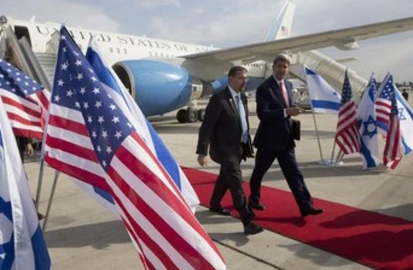 US Ambassador to Israel Dan Shapiro and US Secretary of State John Kerry. (photo credit: REUTERS)