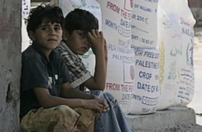 unrwa aid gaza 224.88 (photo credit: AP)