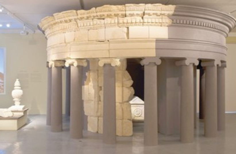 HEROD'S RECONSTRUCTED mausoleum at the Israel Museum in Jerusalem (photo credit: ELIE POSNER)