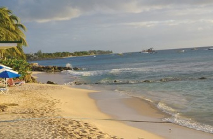 THE LITTLE Good Harbor beach on the northwest coast of Barbados. A great place to watch the sunset. (photo credit: SETH J. FRANTZMAN)
