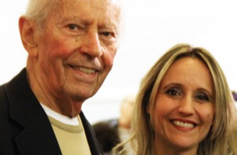 Film composer Sharon Farber seen here with Holocaust survivor Curt Lowens. (photo credit: Courtesy)