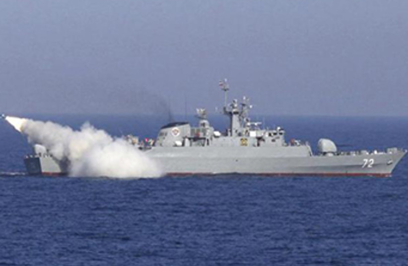 Missile fired from an Iranian warship  (photo credit: REUTERS)