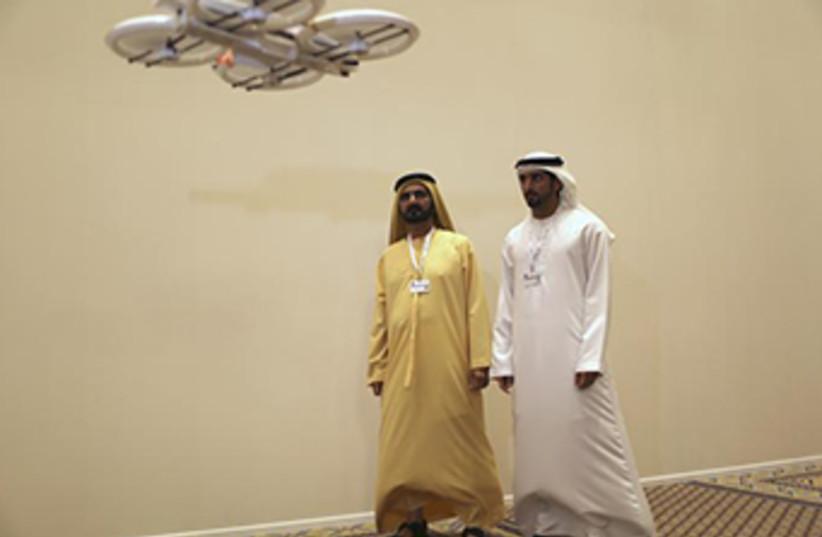 UAE drone testing (photo credit: REUTERS)