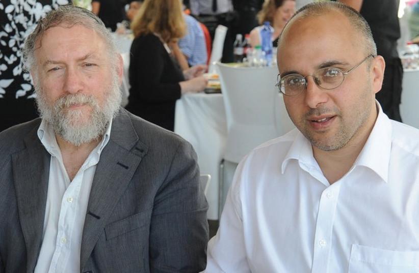 BARRY RUBIN and Jonathan Spyer. (photo credit: Courtesy)