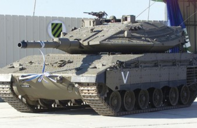 THE MERKAVA Mark IV is the IDF Armored Corps' most advanced tank. (photo credit: HAVAKUK LEVISON / REUTERS)