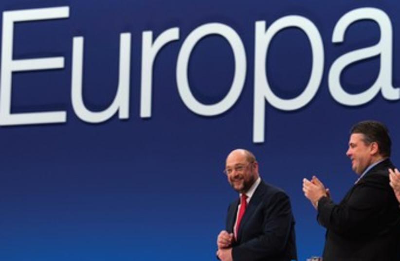 European Parliament. (photo credit: REUTERS)
