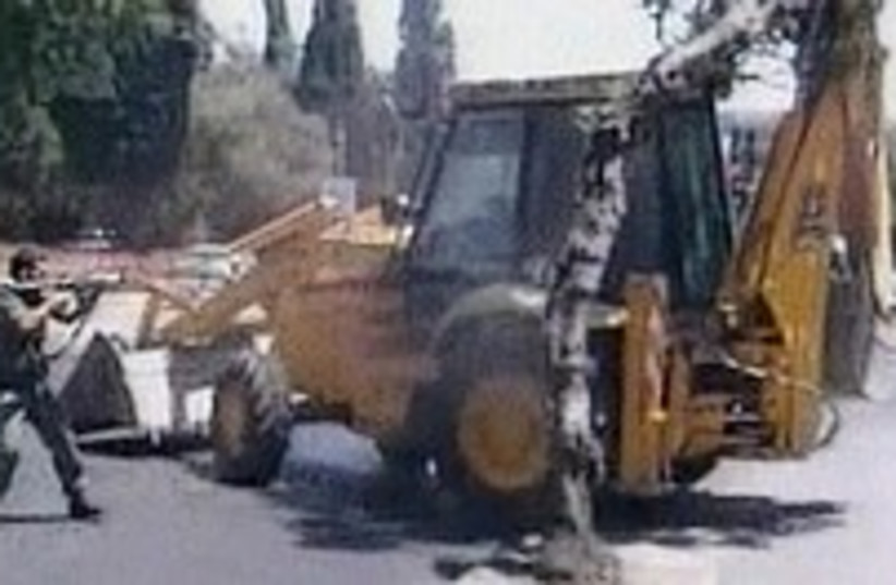 bulldozer shooter 224.88 (photo credit: Channel 2)