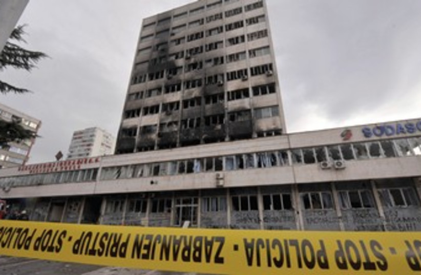 Government building in Tuzla in Bosnia (photo credit: REUTERS)
