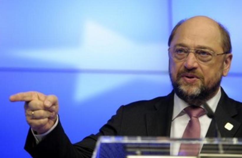 European Parliament President Martin Schulz (photo credit: REUTERS)