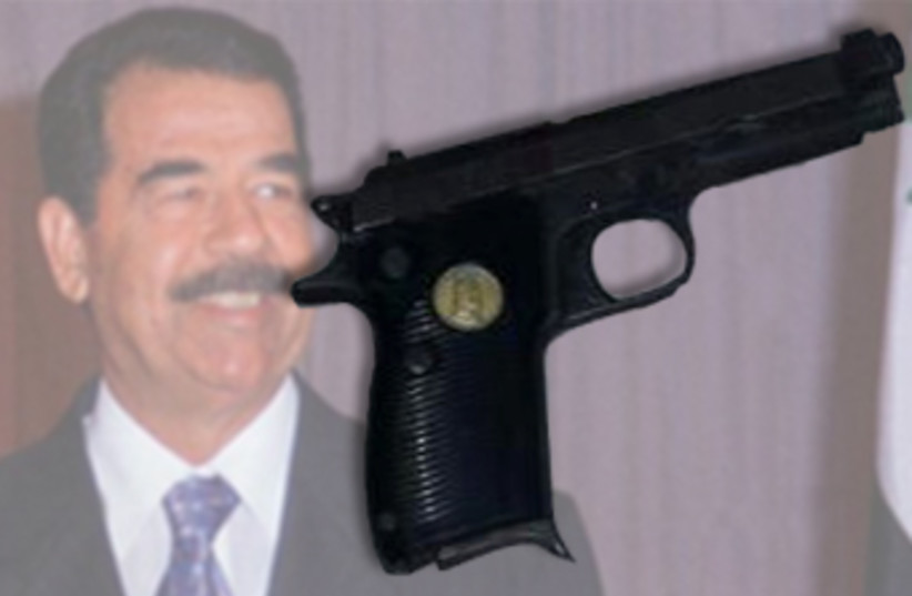 Saddam Hussein (photo credit: REUTERS,COURTESY ISRAEL POLICE)