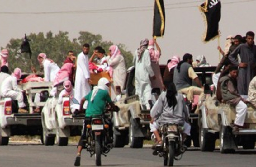 Funeral convoy of slain Islamists, Sinai.  (photo credit: REUTERS)